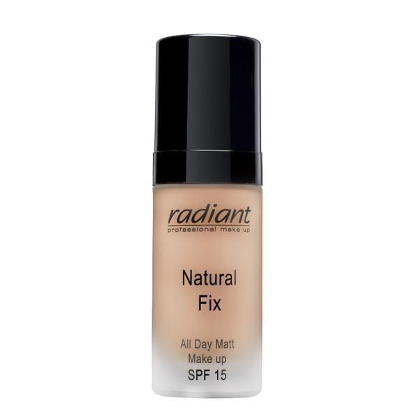Fond de ten Natural Fix,All Day Matt Make Up,Radiant,05,Light Tan, 30ml