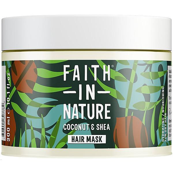 Masca Nutritiva cu Cocos si Unt de Shea pentru Par Uscat Faith in Nature, 300 ml