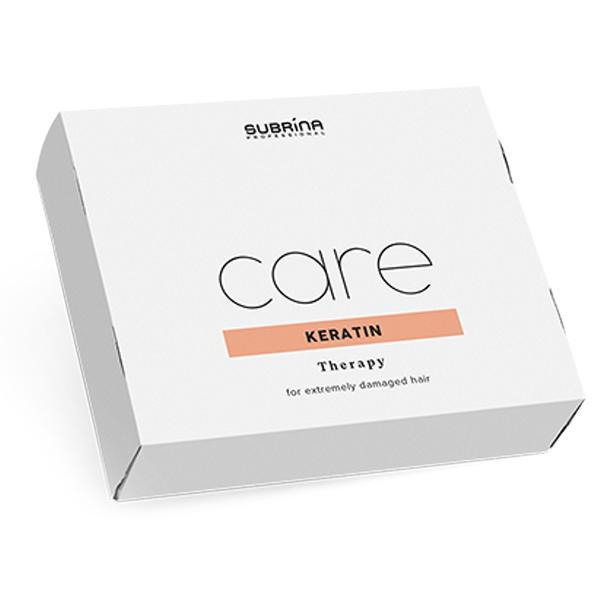 Fiole Tratament cu Cheratina pentru Par Foarte Deteriorat - Subrina Care Keratin Therapy, 6x 10 m