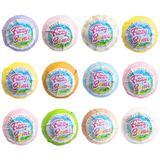 Set 12 Bombe de baie efervescente Fizzy Bomb, diverse culori si arome, cu unt de shea si aromaterapie 2160g
