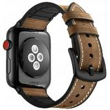 Curea compatibila Apple Watch, 42/44mm din piele, maro