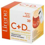 Crema intens hidratanta pentru fata, Lirene C+D Pro Vitamin Energy 30+, 50ml