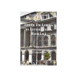 Teste de limba si literatura romana - Dan Dumitrescu, editura Sanda