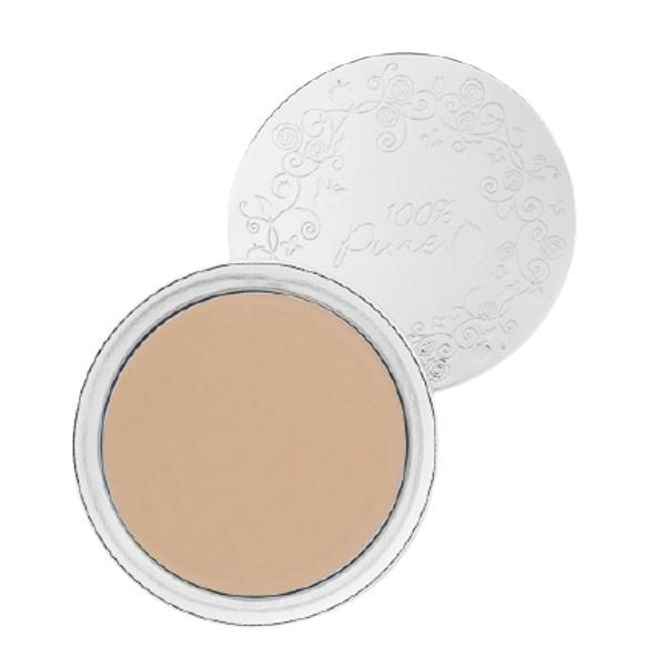 Fond de Ten Compact Cream Foundation 100 Percent Pure Cosmetics 9 g, nuanta White Peach