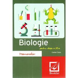 Memorator de biologie a 11-a - Corina Ciucu, editura Booklet