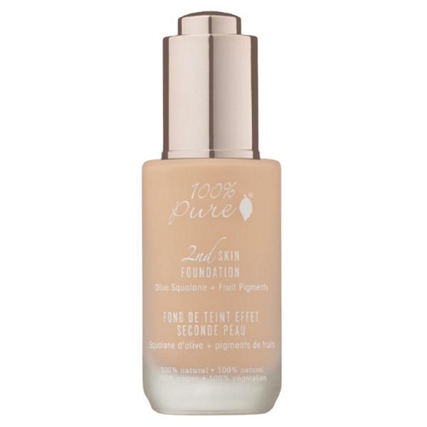 Fond de Ten Serum cu Efect 2nd Skin 100 Percent Pure Cosmetics 35 ml, nuanta nr 1 Sand esteto.ro