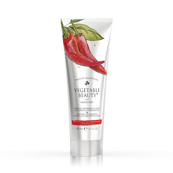 Șampon împotriva căderii părului cu extract de ardei iute Vegetable Beauty 200ml