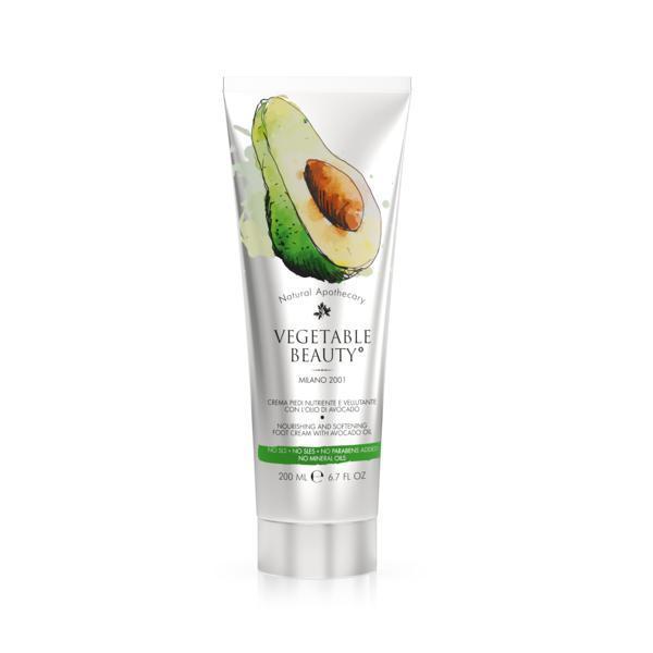 Cremă de picioare hrănitoare cu ulei de avocado Vegetable Beauty 200ml