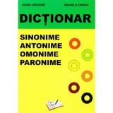 Dictionar sinonime, antonime, omonime, paronime - Adina Grigore, editura Ars Libri