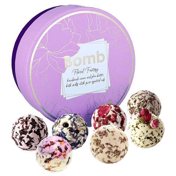 Set cadou Floral Fantasy Creamer Bomb Cosmetics (sare baie 30g x 7 buc)