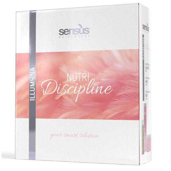 Set cadou BIO nutritiv pentru disciplinarea părului Sens US ( sampon 250ml + masca 250ml + lapte termo disciplinat 125ml ) esteto.ro