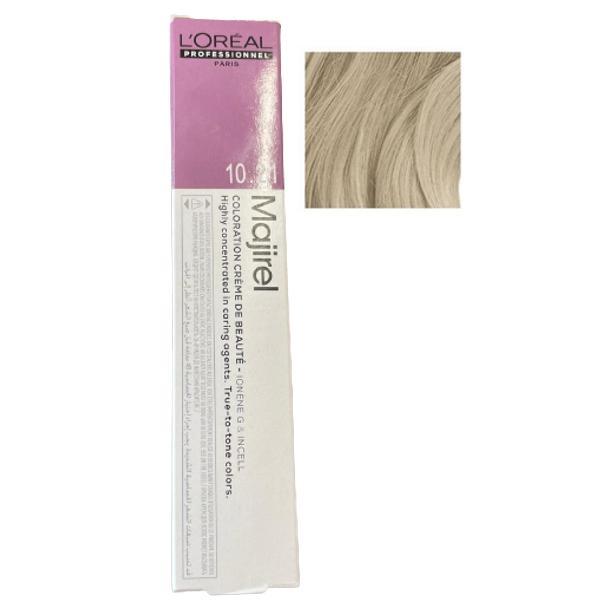 Vopsea permanenta L'Oreal Professionnel Majirel Ionene G incell nr. 10.21 Lightest Iridescent Ash Blonde esteto.ro