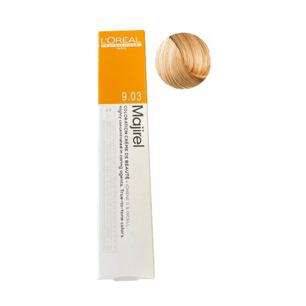 Vopsea Permanenta - L'Oreal Professionnel Majirel Ionene G Incell, nuanta 9.03 Very Light Natural Golden Blonde esteto.ro