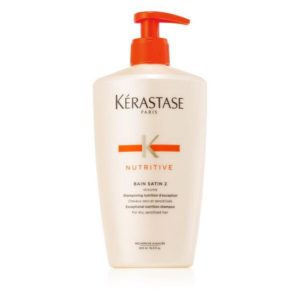 Sampon pentru Par Uscat si Sensibil - Kerastase Nutritive Bain Satin 2 Irisome Shampoo, 500 ml