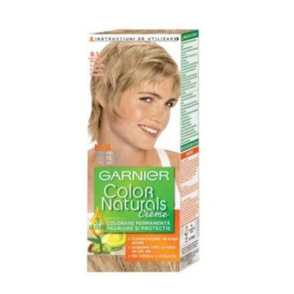 Vopsea de păr Garnier Color Naturals 9.1 Blond Foarte Deschis Cenuşiu, 110 ml esteto.ro