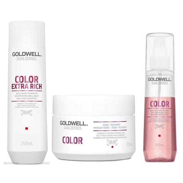 Pachet pentru Par Vopsit - Goldwell Dualsenses Color: Sampon 250 ml, Masca 200 ml, Ser Spray 150 ml esteto.ro