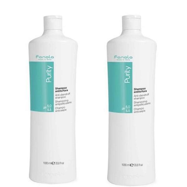 Pachet 2 x Sampon Antimatreata - Fanola Purity Anti-Dandruff Shampoo, 1000 ml