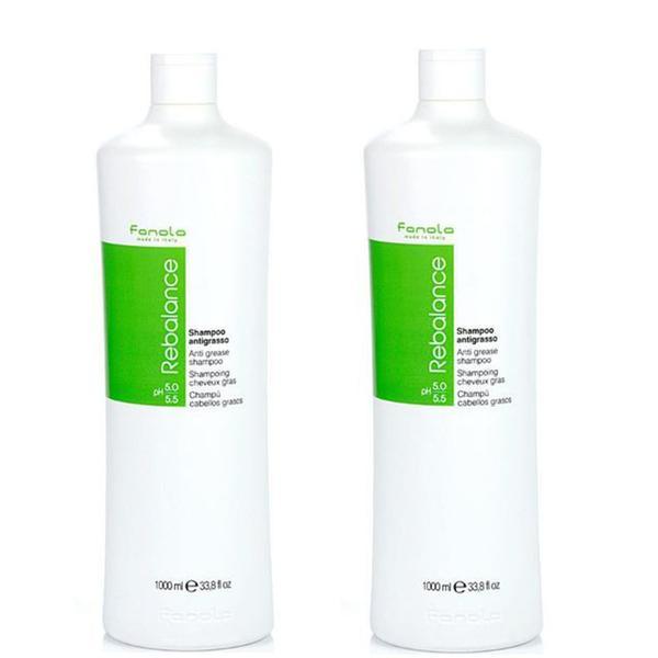 Pachet 2 x Sampon pentru Par Gras - Fanola Rebalance Anti Grease Shampoo, 1000 ml