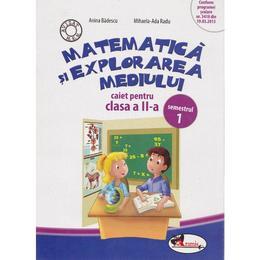 Matematica si explorarea mediului clasa 2 caiet sem.1 - Anina Badescu, editura Aramis