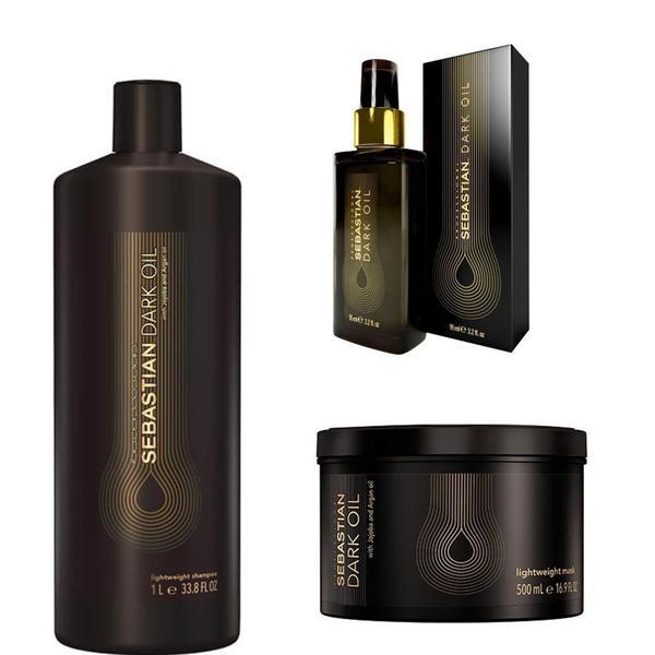 Pachet pentru Barbati 3 - Sebastian Professional Dark Oil Lightweight: Sampon 1000, Masca 500 ml, Ulei de Styling 90 ml esteto.ro