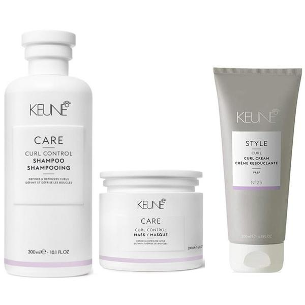 Pachet pentru Par Ondulat - Keune Care Curl Control: Sampon 300 ml, Masca 200 ml, Crema de Par 200 ml esteto.ro