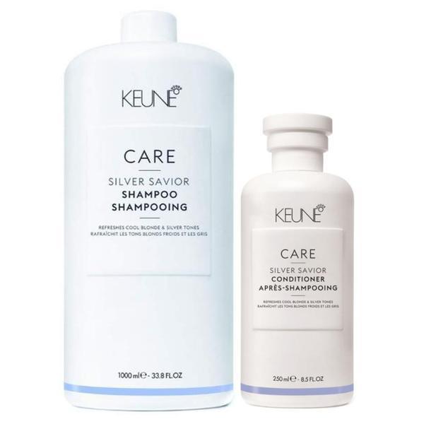 Pachet pentru Par Blond - Keune Care Silver Savior: Sampon 1000 ml, Balsam 250 ml esteto.ro