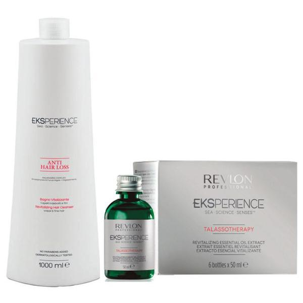 Pachet Anticadere - Revlon Professional Eksperience Anti Hair Loss Revitalizing: Sampon 1000 ml, Lotiune Revitalizanta 6 x 50 ml esteto.ro