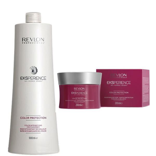 Pachet pentru Protectia Culorii - Revlon Professional Eksperience Color Protection: Sampon 1000 ml, Masca 200 ml esteto.ro
