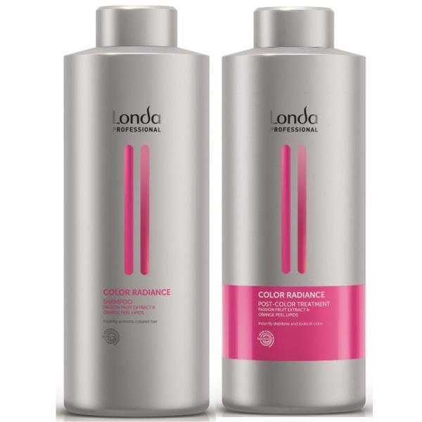 Pachet pentru Par Vopsit - Londa Professional Color Radiance: Sampon 1000 ml, Tratament 1000 ml esteto.ro