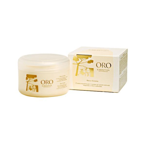 Crema de corp anti-age cu aur coloidal, Oro Exenthia, 200ml