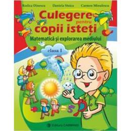 Matematica si explorarea mediului cls 1 culegere pentru copii isteti - Rodica Dinescu, Daniela Stoica, Carmen Minulescu, editura Carminis