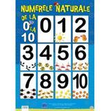 Plansa numerele naturale de la 0 la 10, editura Didactica Publishing House
