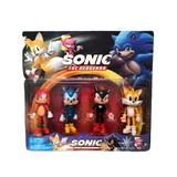 Set 4 figurine Sonic the Hedgehog, multicolor, 10 cm