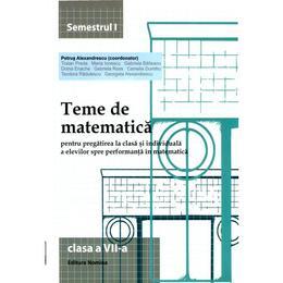 2014 Teme De Matematica Cls 7 Sem. 1 - Petrus Alexandrescu, editura Nomina