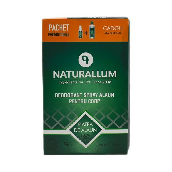 Pachet Alaun Corp - Deo Spray Alaun pt corp 100ml + Refill Apa Distilata 500ml, Naturallum esteto.ro