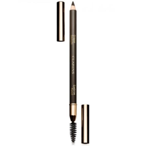 Creion Clarins si pensula pentru sprancene 01 Dark Brown 1.1g