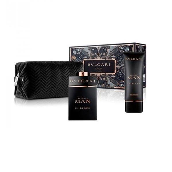 Set cadou Bvlgari Man in Black Apa de parfum 100ml + After shave 100ml + Geanta esteto.ro