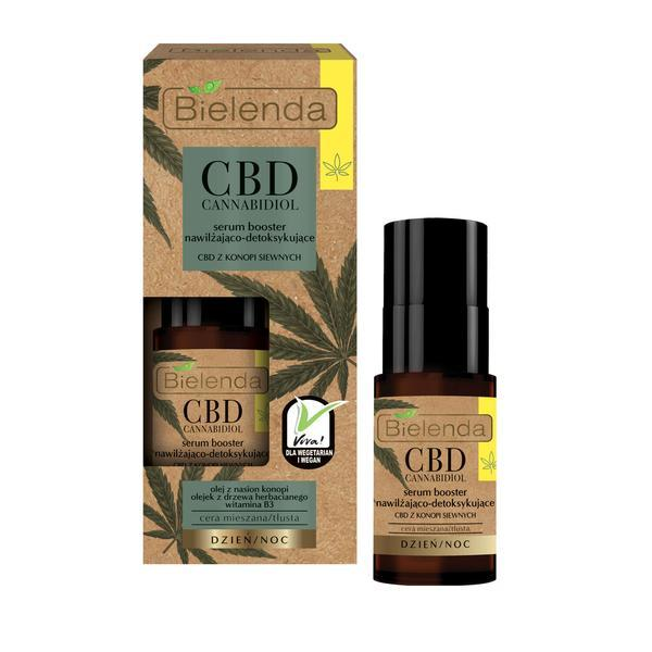 Ser booster hidratant si detoxifiant cu canabidiol CBD din seminte de canepa pentru ten mixt si gras Bielenda Cbd Cannabidiol 15ml