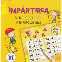 Impartirea. Scrie si sterge. Fise refolosibile, editura Didactica Publishing House