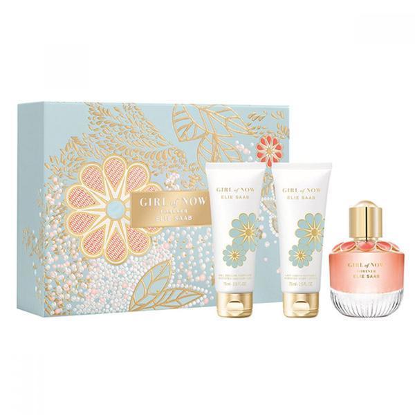 Set cadou Elie Saab Girl of Now Forever Apa de parfum 50ml + Lotiune pentru corp 75ml + Gel de dus 75ml esteto.ro