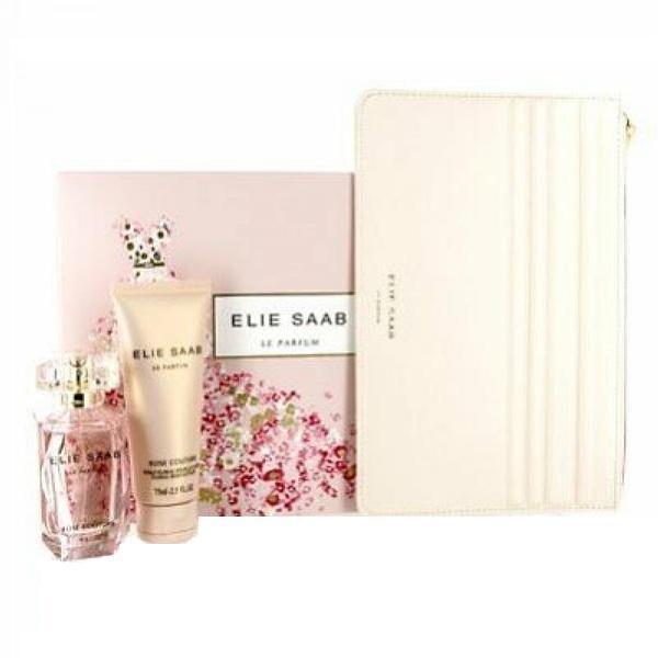 Set cadou Elie Saab Le Parfum Apa de parfum 50ml + Lotiune pentru corp 50 ml + Portfard