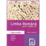 Memorator de limba romana pentru cls 5 - 8 ed.2016 - Vasilica Zegreanu, editura Booklet