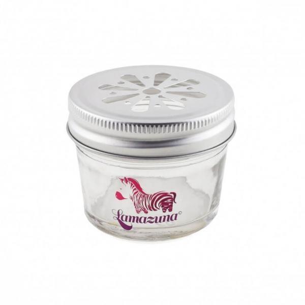 Recipient din sticla zero waste pentru cosmeticele solide Lamazuna esteto.ro