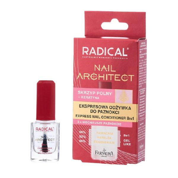 Tratament Rapid 8 in 1 pentru Unghii - Farmona Radical Nail Architect, 12 ml esteto.ro