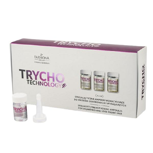 Fiole Profesionale Fortifiante - Farmona Trycho Technology Specialist Strengthening Ampoules For Weakened and Loss-Prone Hair, 10x 5 ml