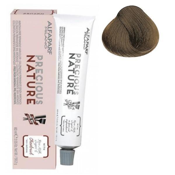 Vopsea Permanenta Fara Amoniac - Alfaparf Milano Precious Nature Ammonia-Free Permanent Hair Color, nuanta 7NF Medium Cool Natural Brown esteto.ro