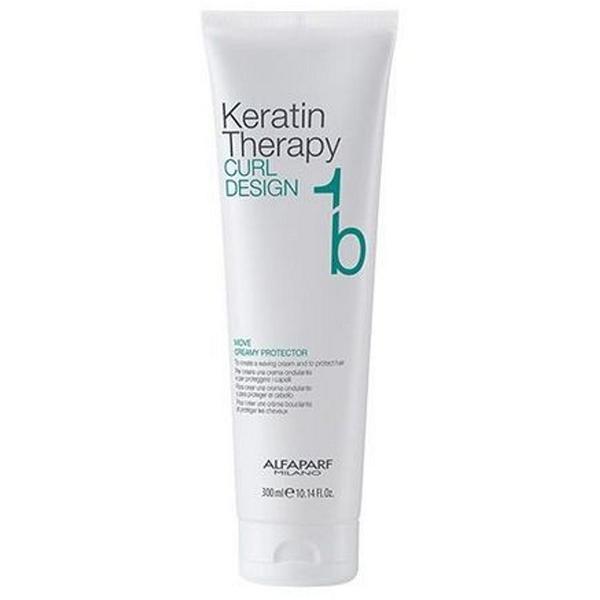 Crema de Protectie - Alfaparf Lisse Design Keratin Curl Design Move Creamy Protector, 300 ml