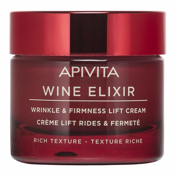 Creme de fata, Wine Elixir Santorini Vine crema anti-rid Rich Texture, Apivita, 50 ml