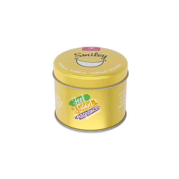 Lumanare naturala Feel Good Vanilla Cream, Smiley 35 ore Cristalinas 300g esteto.ro