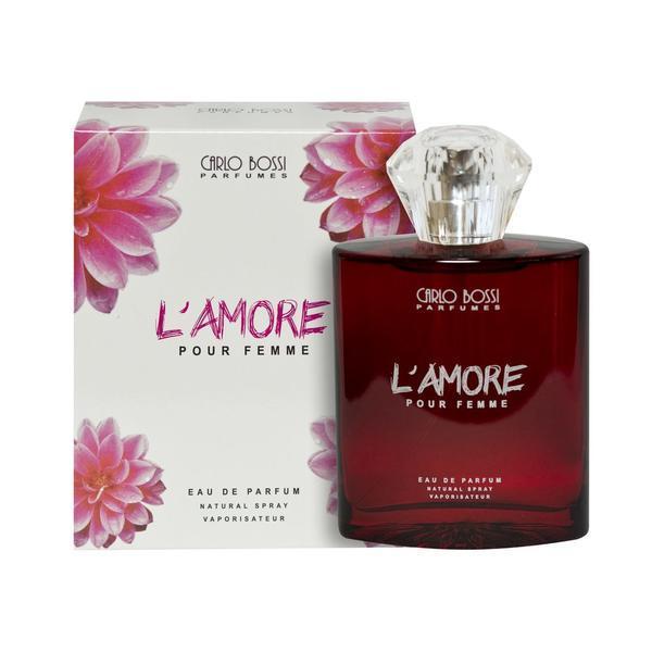 Apa de parfum pentru femei Carlo Bossi, L'amore Red, 100 ml